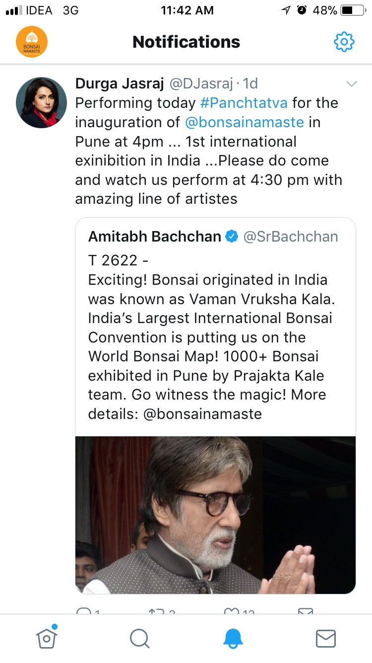 Tweet by Amitabh Bachchan