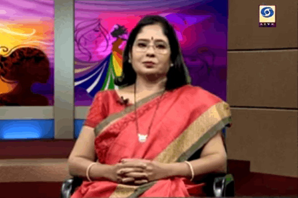 Mrs. Prajakta Kale in conversation with Sahyadri channel